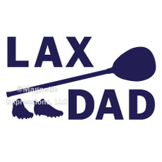Lax Goalie Dad Gear Window Decal