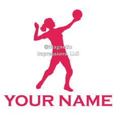 Volleyball Serve Female Window Decal