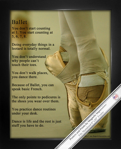Framed Ballet Shoes Dancer 8x10 Sport Poster Print