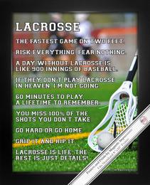 Framed Lacrosse Player Just Details 8x10 Sport Poster Print