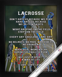 Framed Lacrosse Female Sticks 8x10 Sport Poster Print