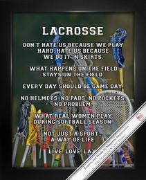Framed Lacrosse Female Sticks 8x10 Sport Poster Print
