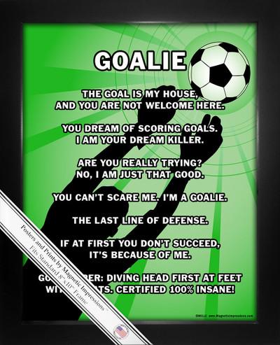 Framed Soccer Goalie 8x10 Sport Poster Print