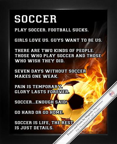 Framed Soccer Player Fire 8x10 Sport Poster Print