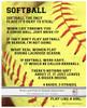 Softball Player Sayings 8x10 Poster Print