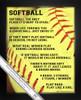 Framed Softball Player Sayings 8x10 Poster Print