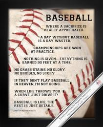 Framed Baseball Player Gritty 8x10 Poster Print