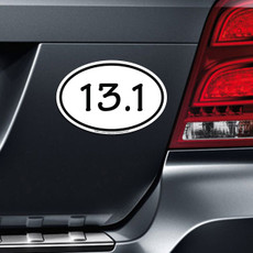 13.1 Half Marathon Car Magnet on Car