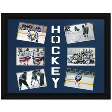 Ice Hockey Photo Mat Royal Blue. Photos and Frame not included.