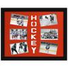 Ice Hockey Photo Mat Orange. Photos and Frame not included.