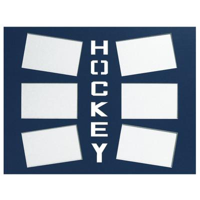 Ice Hockey Photo Mat Royal Blue