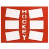 Ice Hockey Photo Mat Orange