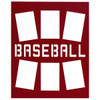 """Unframed Baseball Player Photo Mat Gift 16"""" x 20"""" for 4"""" x 6"""" Photos in red"""