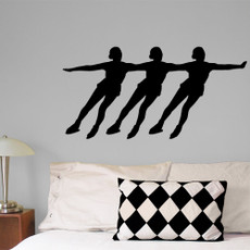 Synchronized Skaters Wall Décor in black