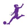 Soccer Female Window Decal
