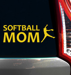 Softball Mom Pitcher Window Decal