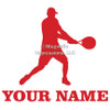 Tennis Male Window Decal in Red