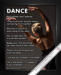 Framed Modern Dance 8x10 Sport Poster Print