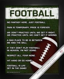 Framed Football on Field 8x10 Sport Poster Print