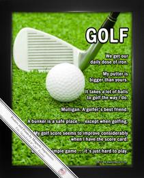 Framed Golf 8x10 Sport Poster Print