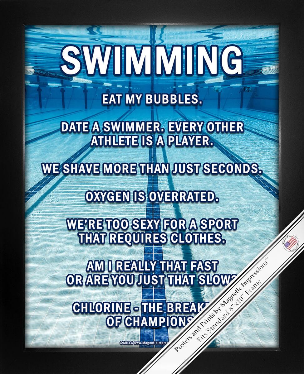 Swimming Lanes 8x10 Sport Poster Print