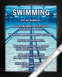 Framed Swimming Lanes 8x10 Sport Poster Print