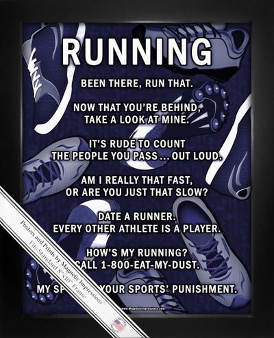Framed Running 8x10 Sport Poster Print