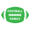 Football Family Window Decal in Lime