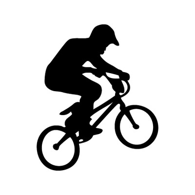 BMX Rider Car Window Decal in Black
