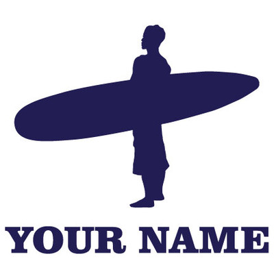 Surfer Stand Window Decal in Blue