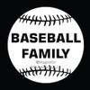 Baseball Family Window Decal in White