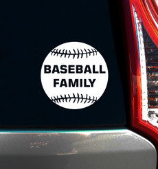 Baseball Family Window Decal