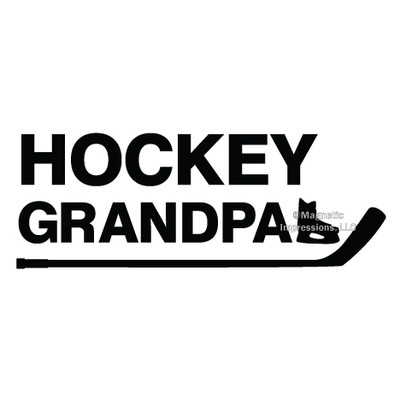 Hockey Grandpa Window Decal in Black