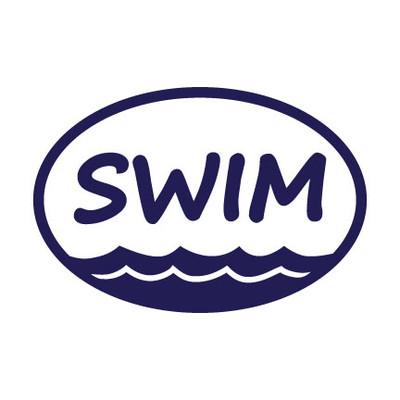 Swim Oval Window Decal in Blue
