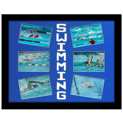 Swimming Photo Mat in Bright Blue