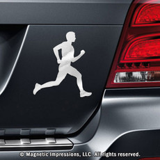 Runner Male Car Magnet in Chrome