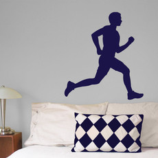 Runner Male Wall Décor in Blue