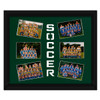 "Soccer Player Photo Mat Gift 16"" x 20"" in Green. Frame and Photos not included."