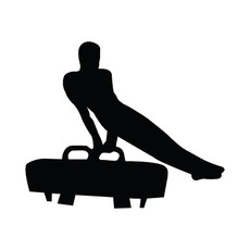 Gymnast Male Pommel Window Decal