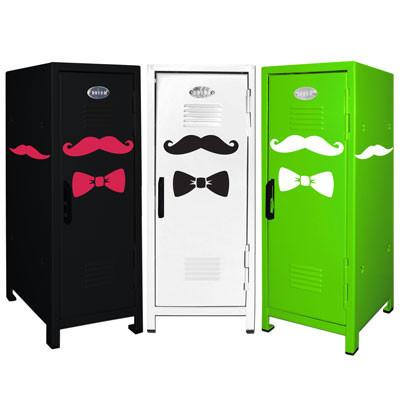 Mustache Mini Locker Trio