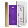 Mini Locker Purple. Ruler not included.