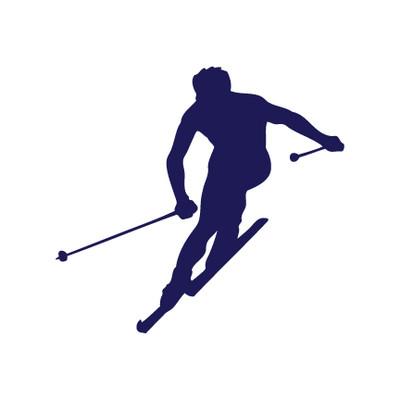 Skier Window Decal
