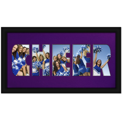 Cheer Photo Mat in Purple