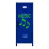 Music Note Mini Locker Blue