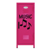 Music Note Mini Locker Hot Pink