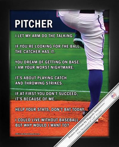 Framed Baseball Pitcher 8x10 Poster Print