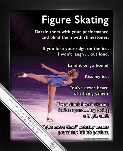 Framed Figure Skater on Ice 8x10 Sport Poster Print