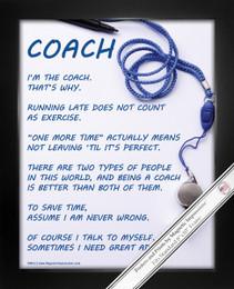 Framed Coach 8x10 Sport Poster Print
