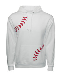 Men's Baseball Laces Hoodie Sweatshirt