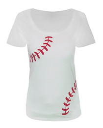Women's Baseball Laces T-Shirt - Slim Fit